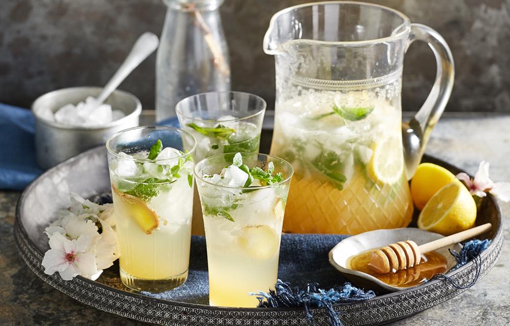 Honey Ginger And Lemon Sparkler Better Homes And Gardens
