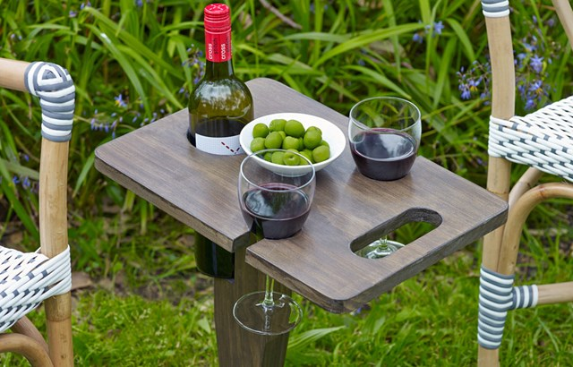 Build your own folding wine holder