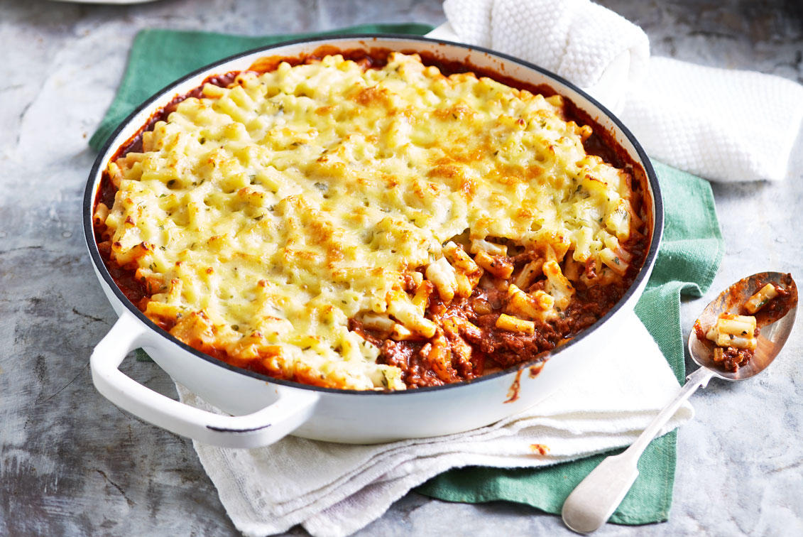 bolognese mac 39 n 39 cheese recipe better homes and gardens