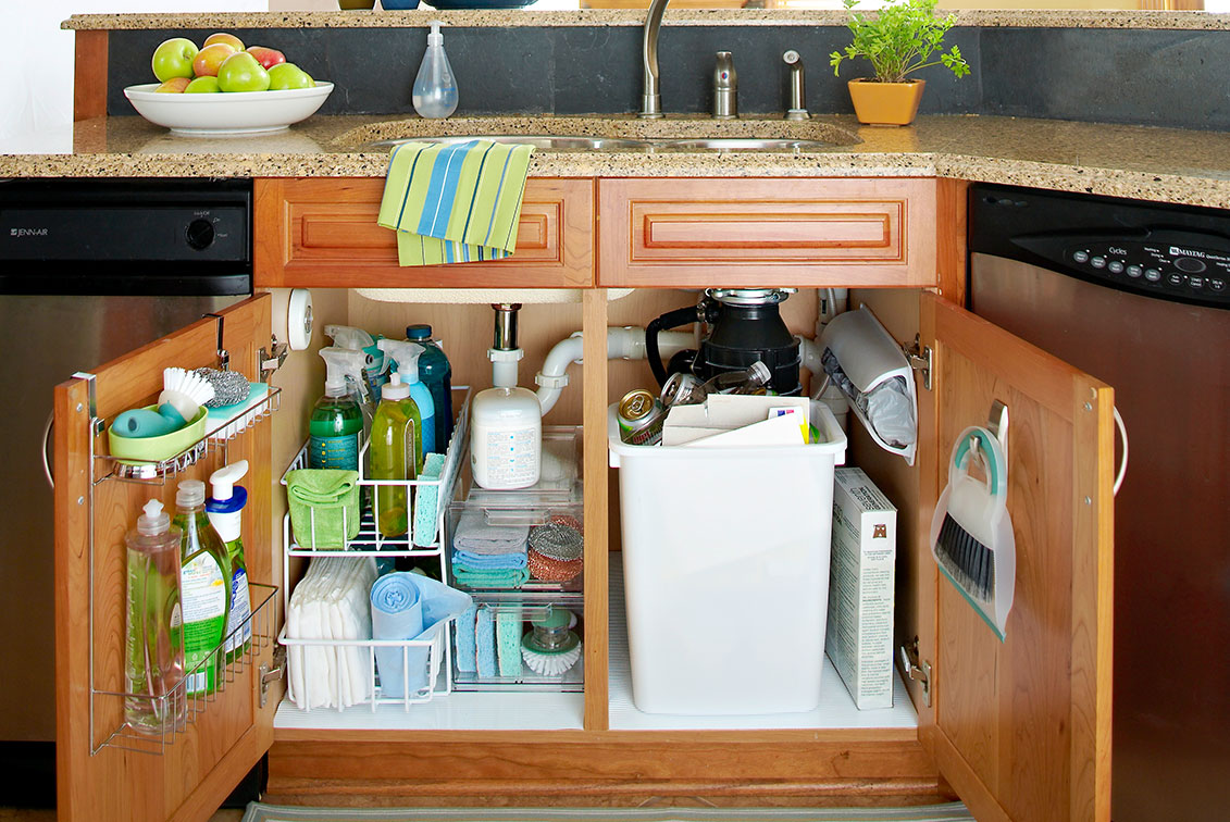 5 Storage Tips For Under The Sink In Your Bathroom Or