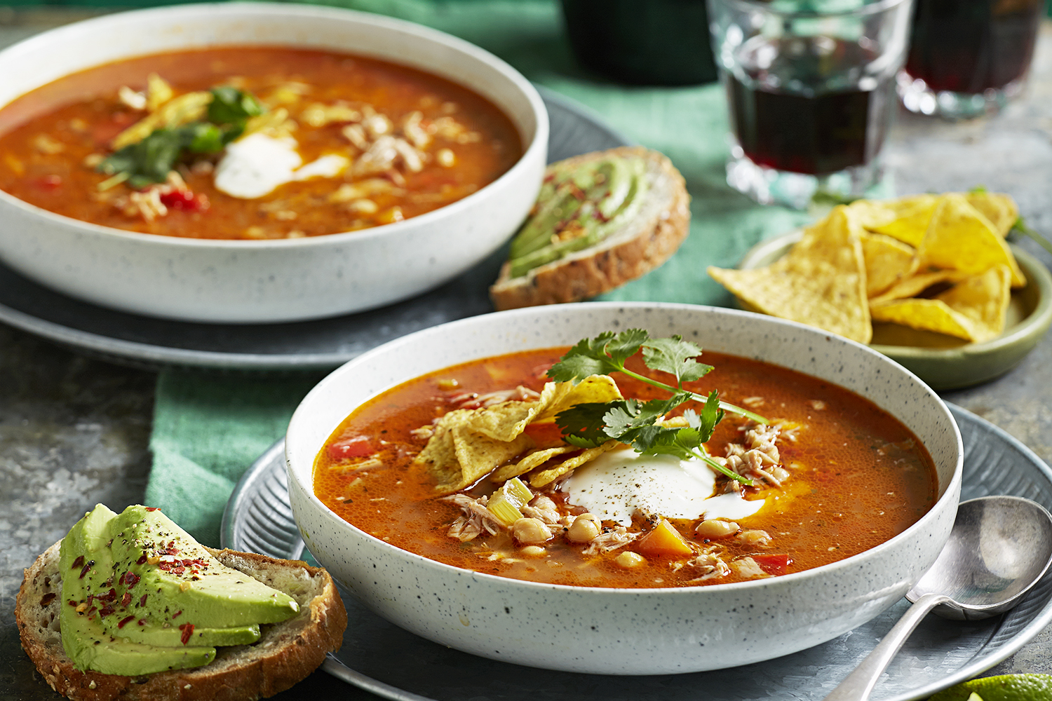 Smoky chicken chickpea tomato and chorizo soup better for Better homes and gardens australia episodes