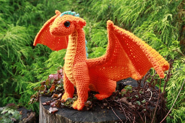 Crochet fans will love this dragon pattern