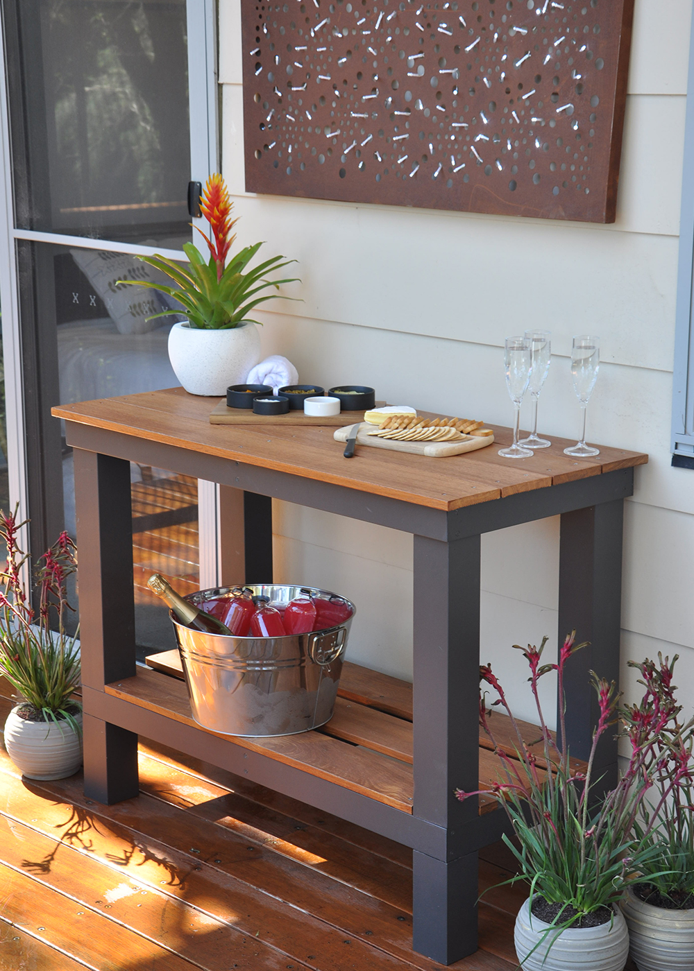 Step By Step Diy Outdoor Bench Project Better Homes And