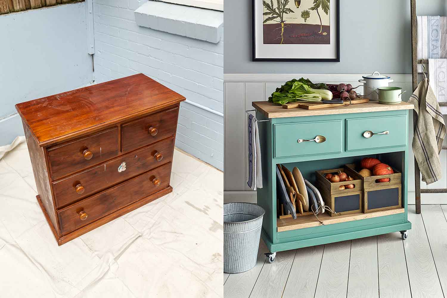 How To Turn An Old Dresser Into An Island Bench Better Homes And Gardens