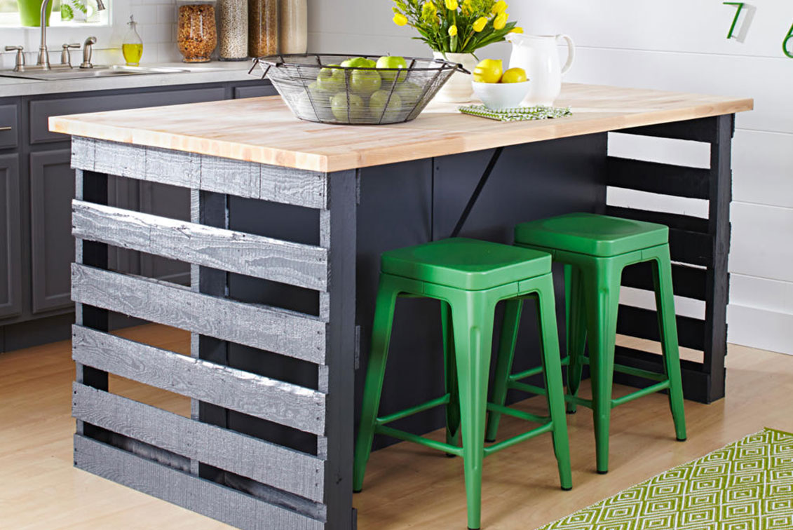 How To Build A Pallet Island Bench Better Homes And Gardens