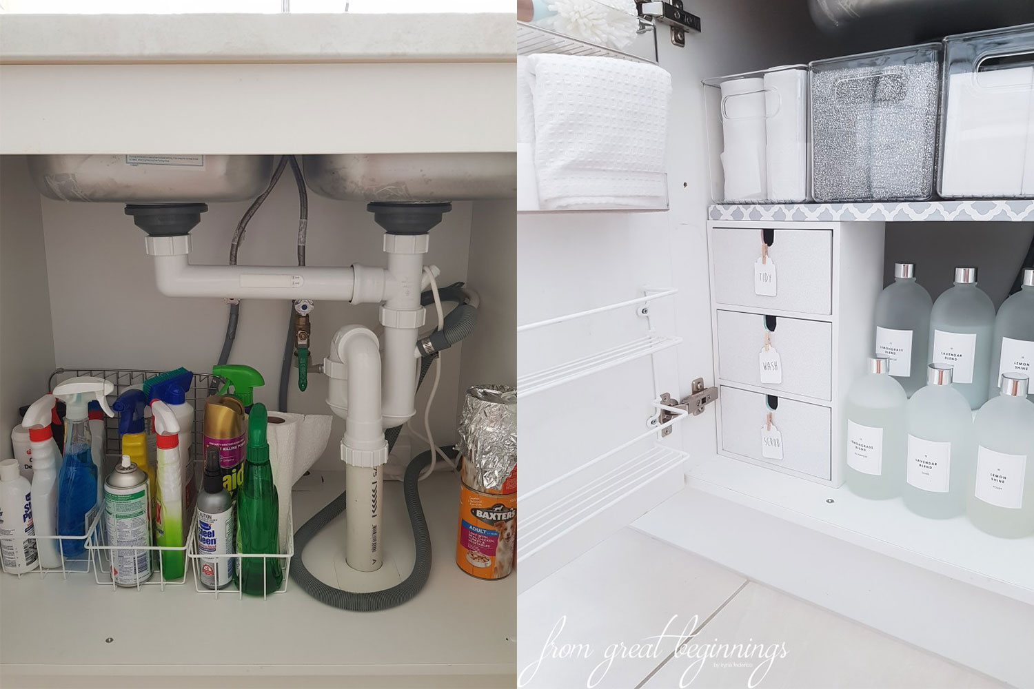 Is this Adelaide woman\'s under-sink storage the most organised in ...