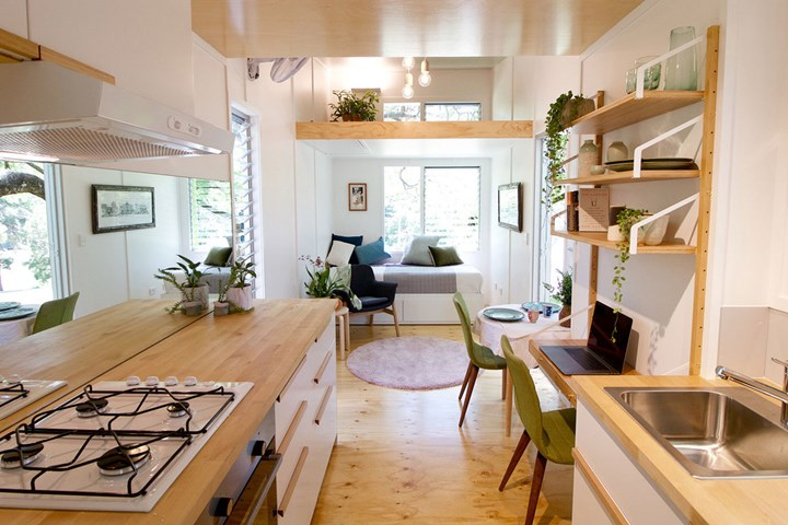 The luxury tiny house on wheels that takes up two carpark