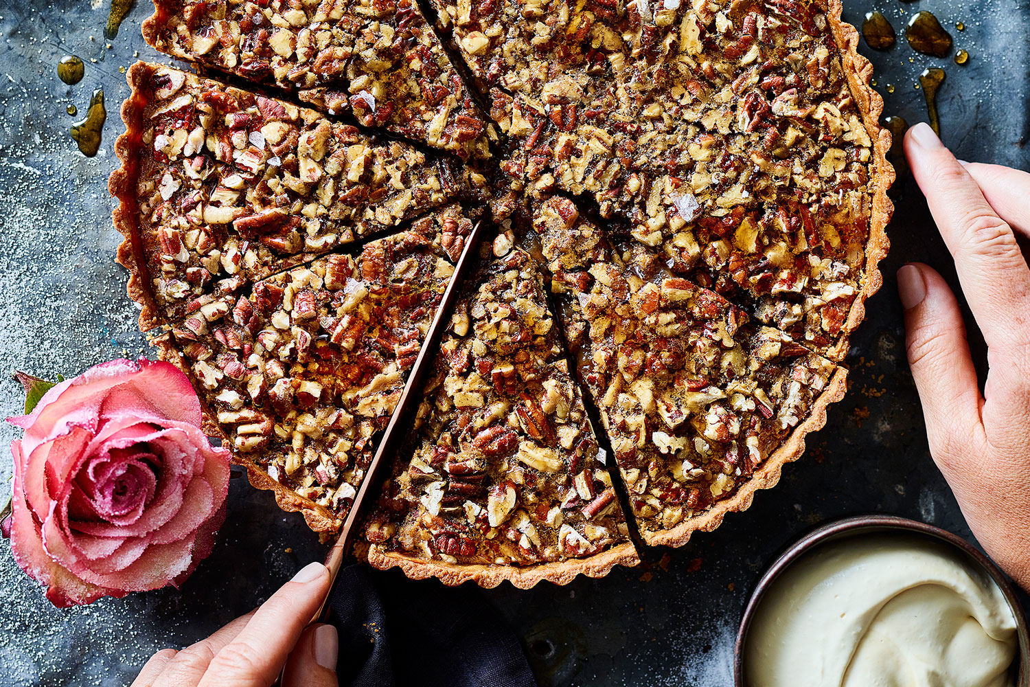 Salted pecan and maple pie recipe better homes and gardens Better homes and gardens episode last night