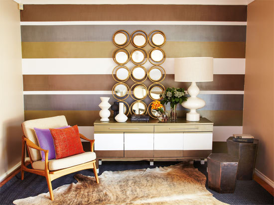 Fabulous Metallic Feature Wall Better Homes And Gardens