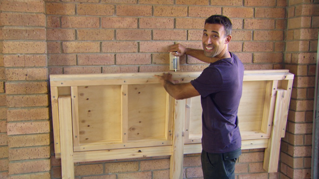 Folding Workbench Better Homes And Gardens - How To Build A Fold Down Work Table