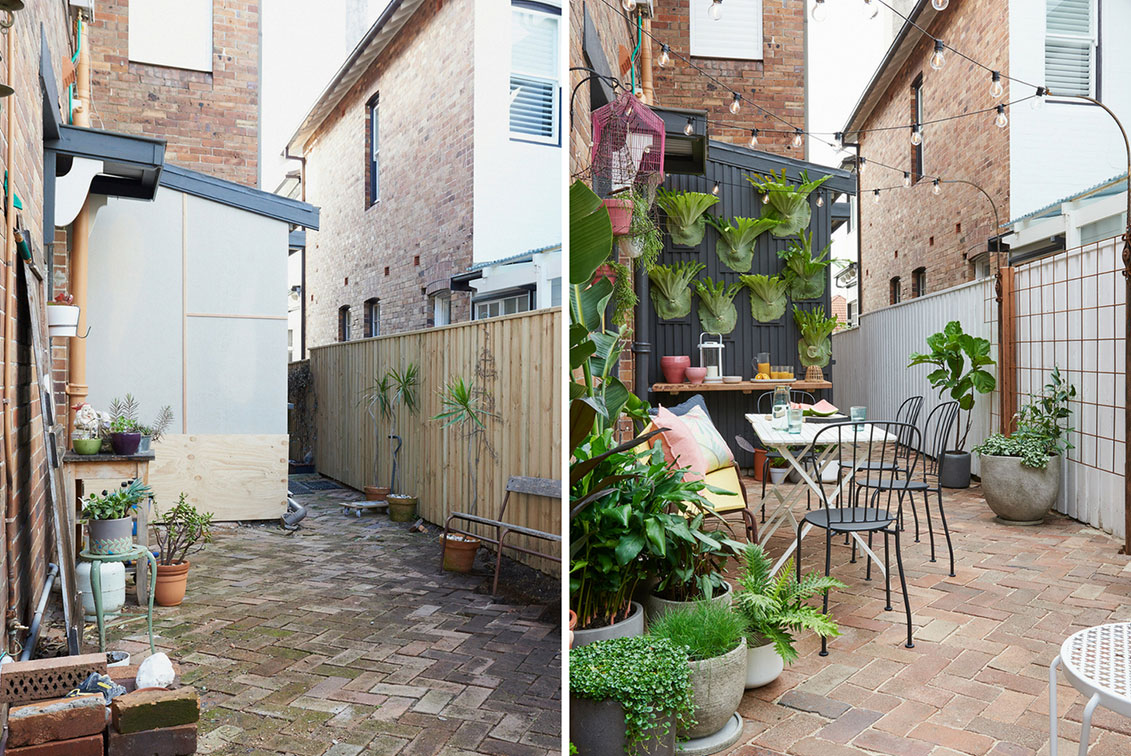 Courtyard Makeover 6 Ways To Give Your Small Outdoor Space A Revamp Better Homes And Gardens