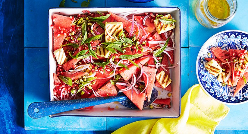 Watermelon And Grilled Haloumi Salad Diy Gardening