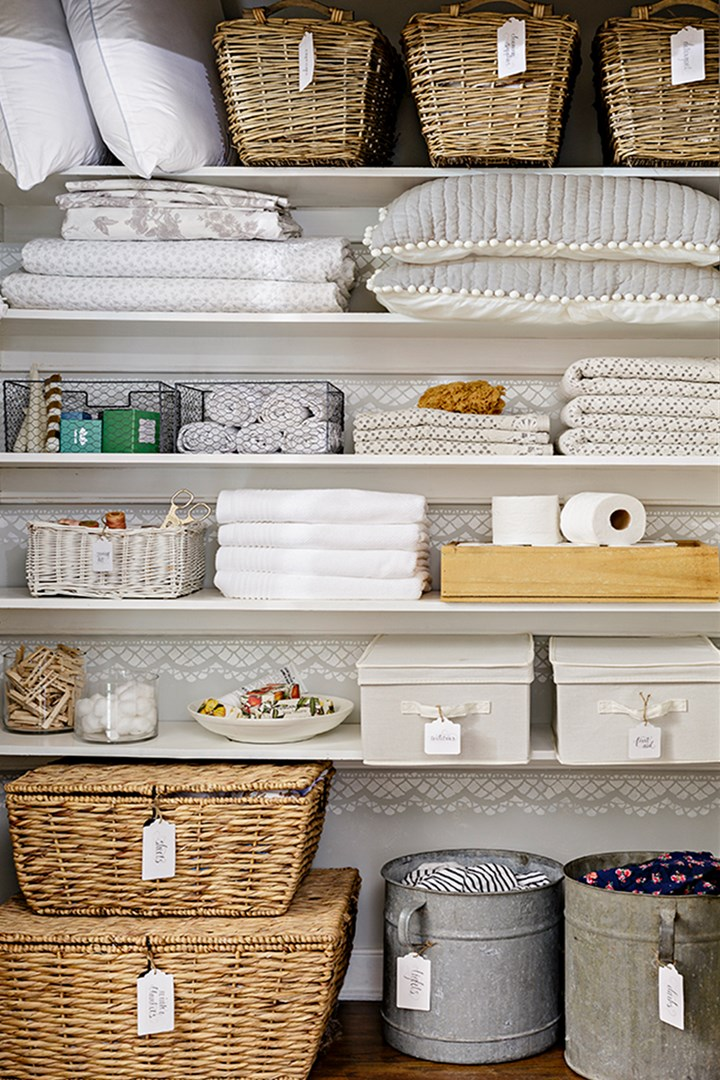 How To Organise Your Linen Closet In 4 Easy Steps Better Homes And Gardens