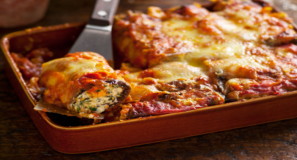 Spinach Ricotta And Eggplant Cannelloni Better Homes And Gardens