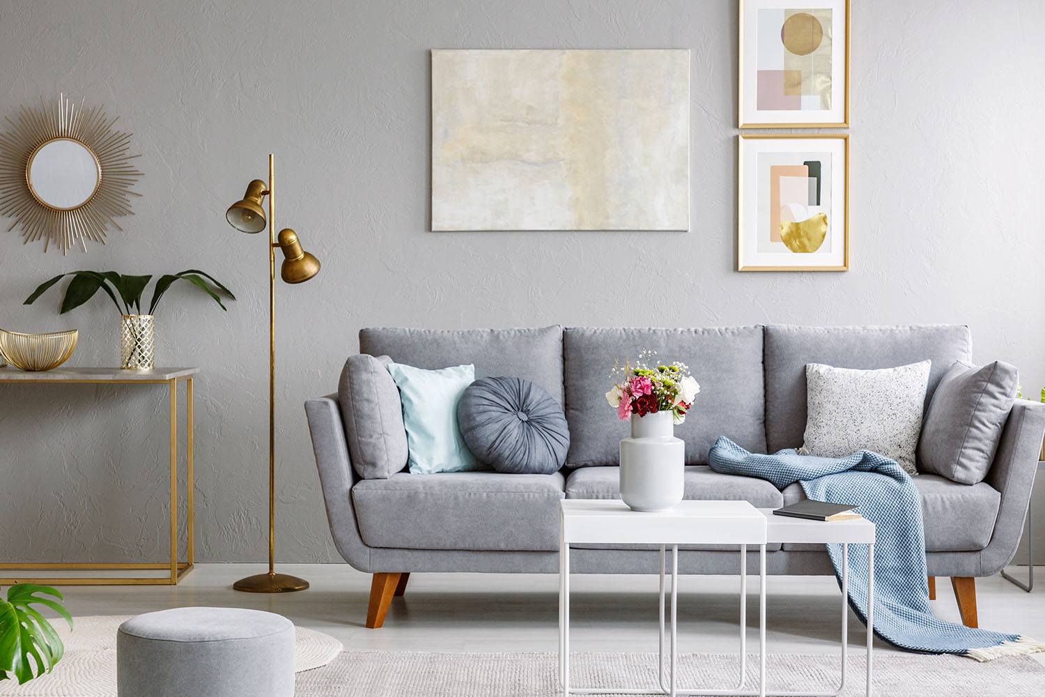 99 Beautiful White And Grey Living Room Interior: The Best Interior Colours For Winter 2019