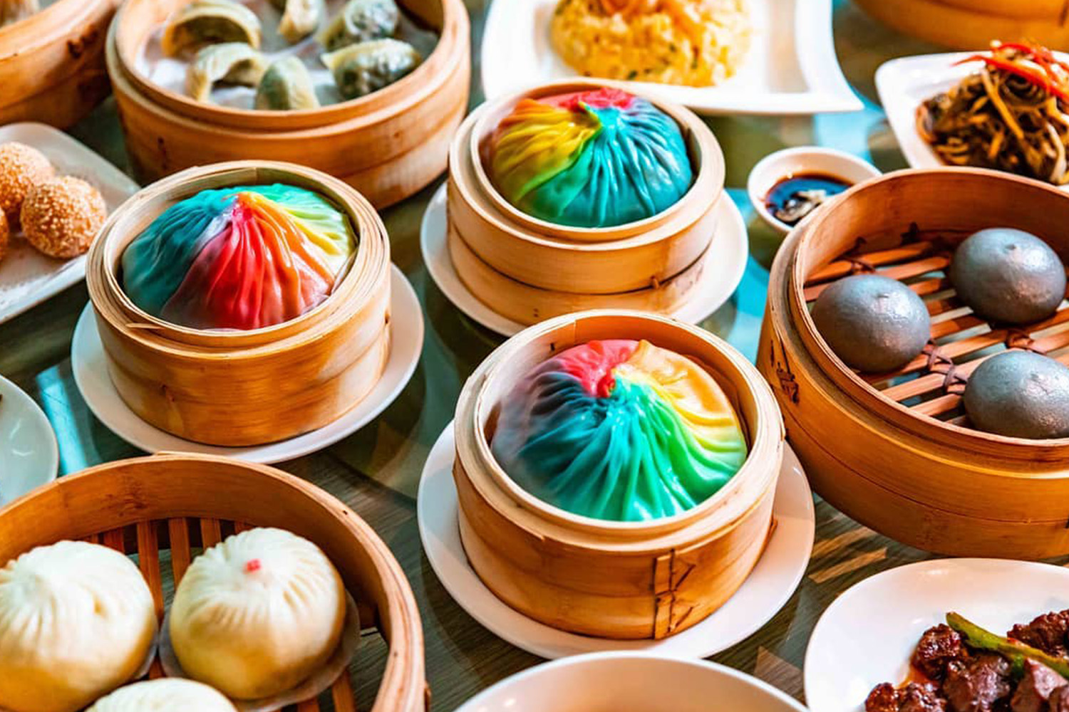 You can now buy giant rainbow dumplings in Melbourne and Sydney