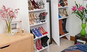 Make a shoe storage shelf