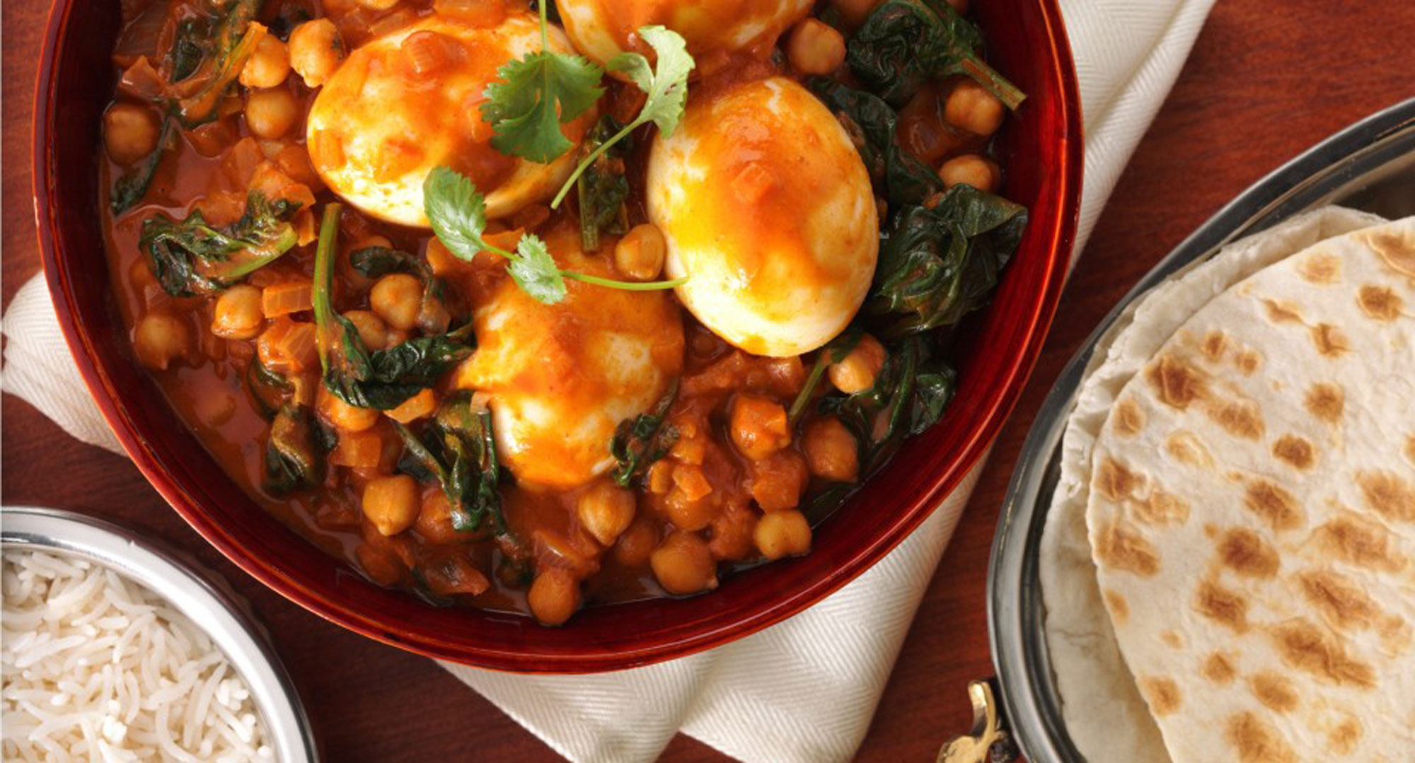 Indian Food Spinach And Chickpeas