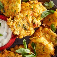 Winter vegetable fritters