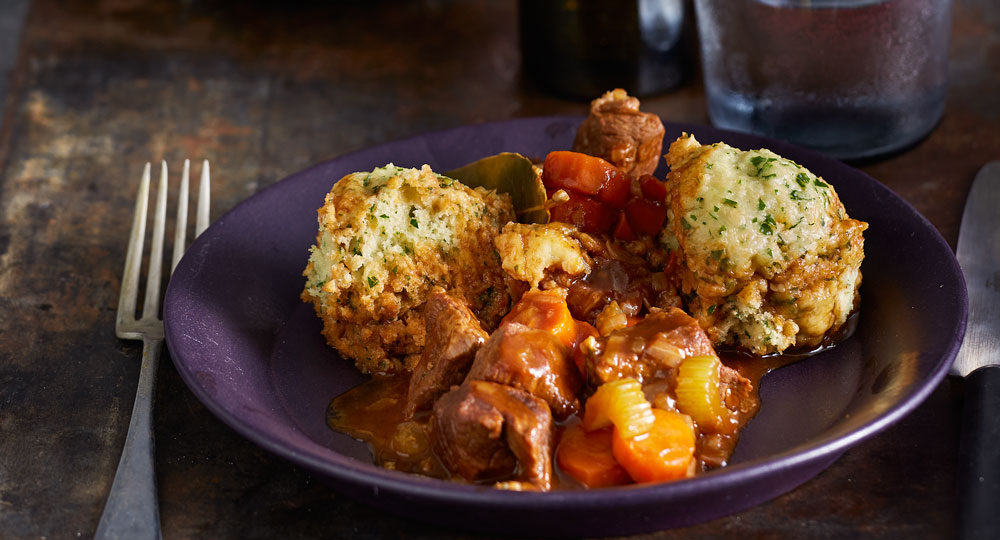 English Beef And Ale Stew With Horseradish Dumplings Better Homes And Gardens