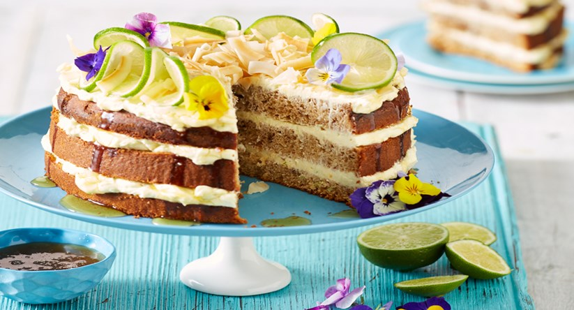 Banana Cake With Zesty Lime Cream Cheese Frosting Diy