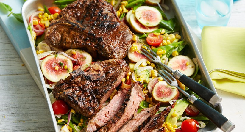Spice Rubbed Steak And Salad Better Homes Gardens