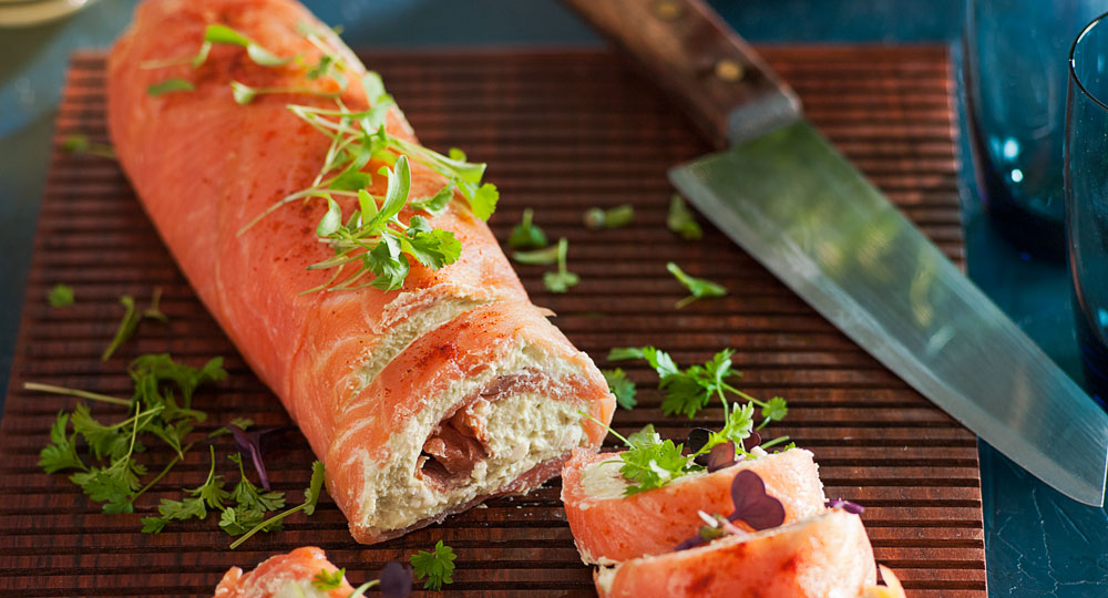 Smoked Salmon And Avocado Roulade Recipe Better Homes