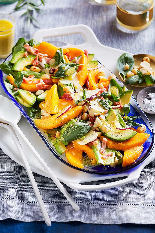 Mango, avocado and macadamia salad