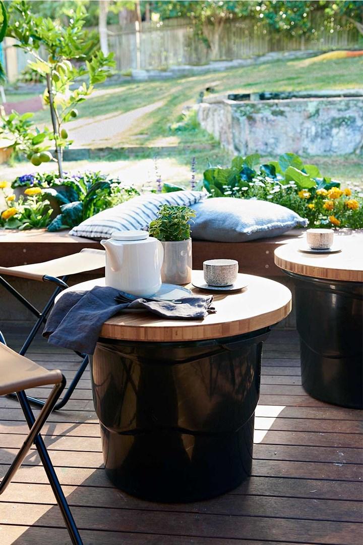 Outdoor deck makeover