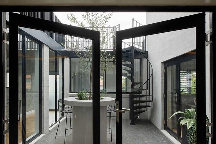 Courtyard renovation doors