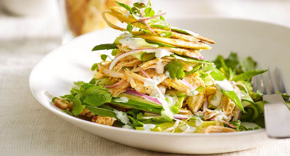 Chicken Salad With Tortilla Crisps Better Homes And Gardens