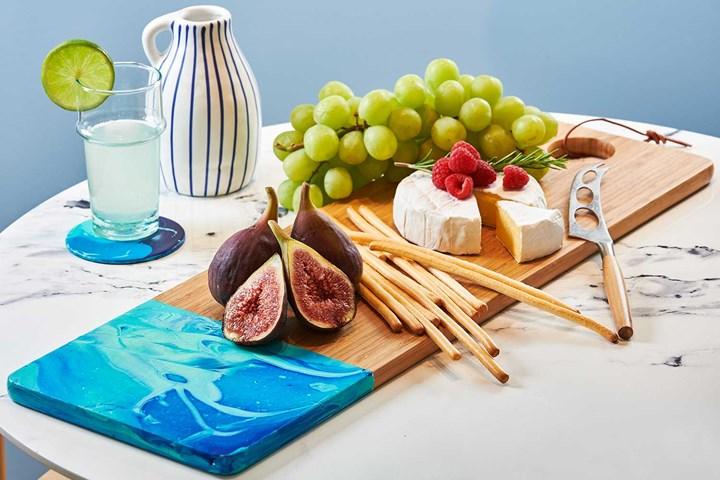 Pour painting platter