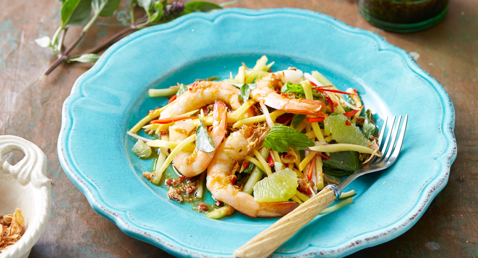 Thai Green Mango Salad With Prawns And Lime Recipe