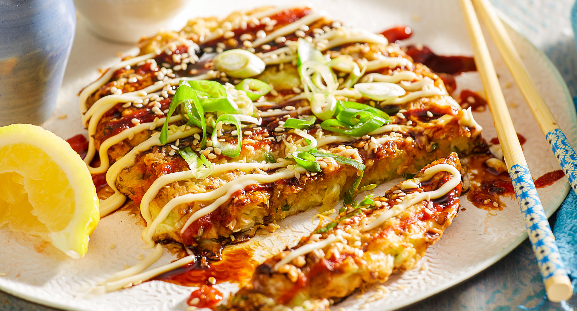 japanese street food okonomiyaki