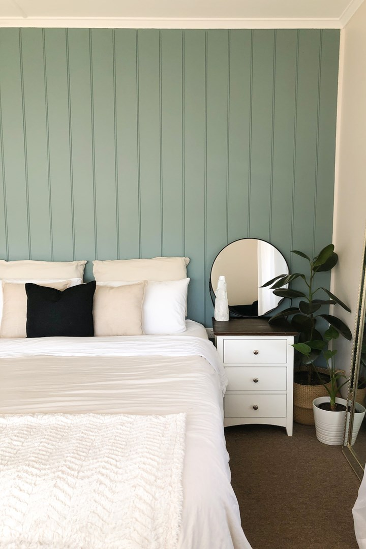 Reader Reno A Gorgeous Bedroom Feature Wall For 600 Better Homes And Gardens