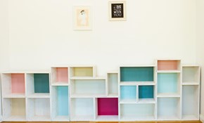 Make Your Own Stackable Box Shelves