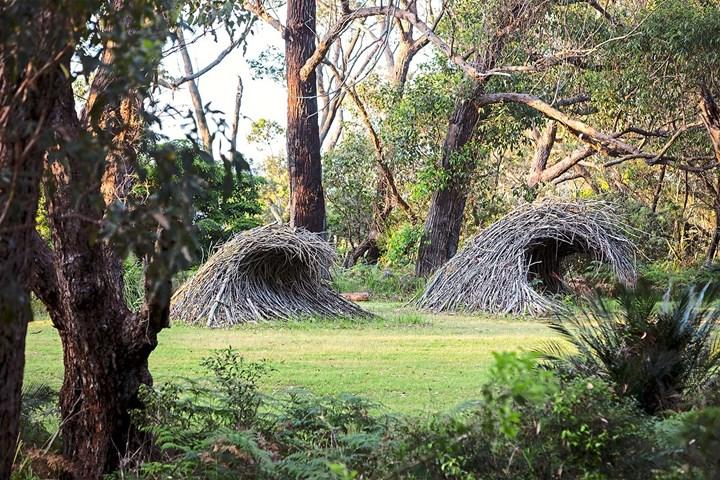 Stick sculpture at Philip Cox's garden Thubbul