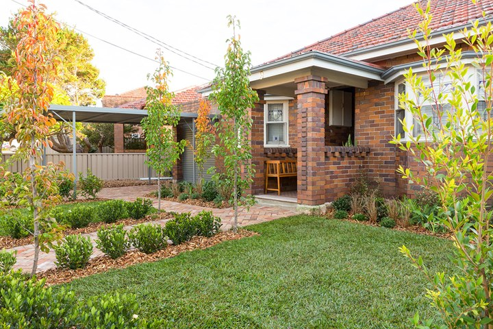 Renovated front garden