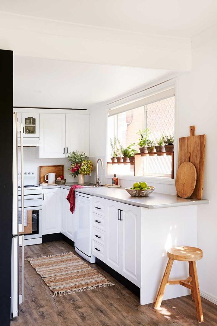 White kitchen budget renovation