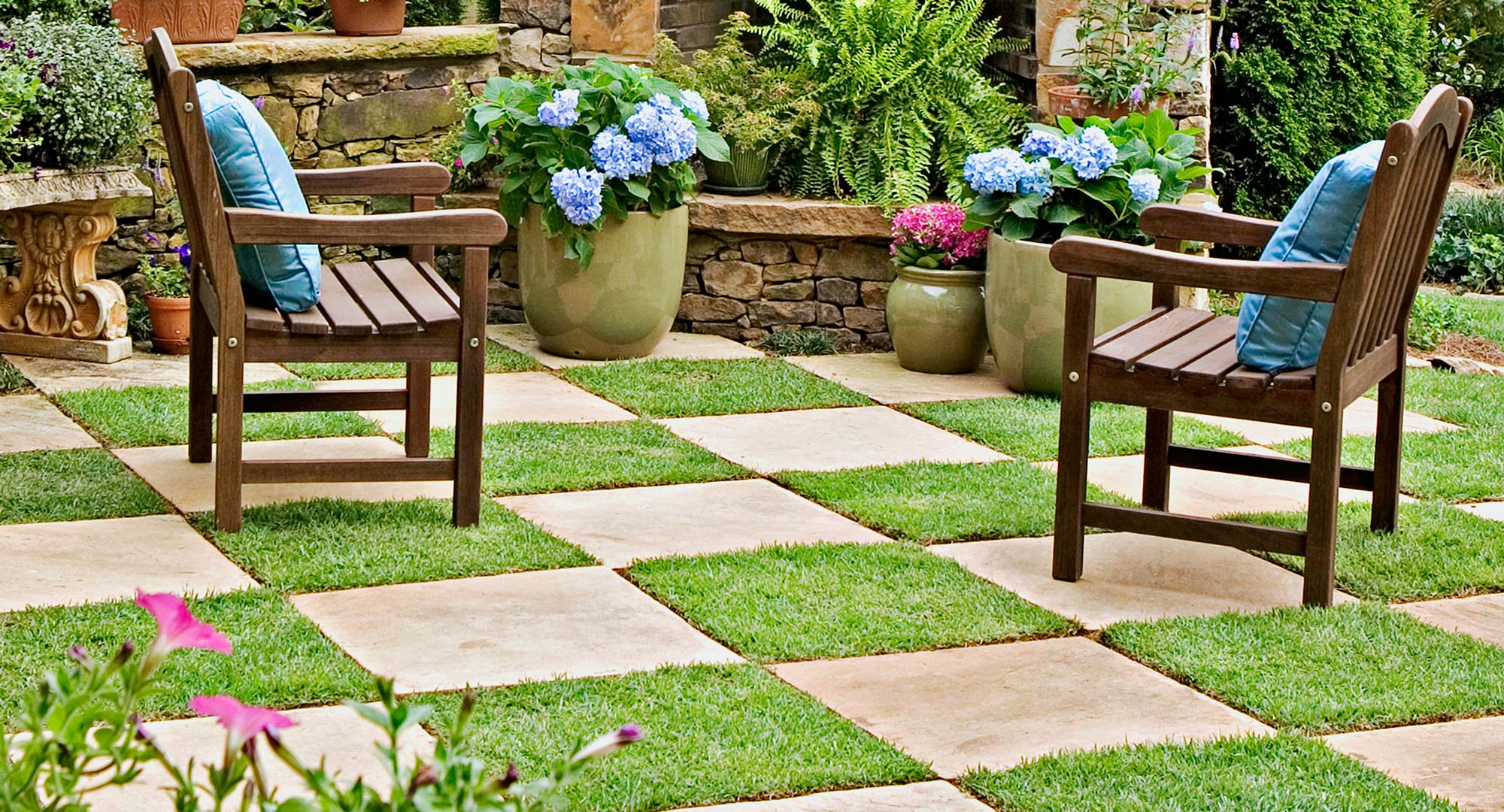 Patchwork Paving Checkerboard Your Backyard With Style