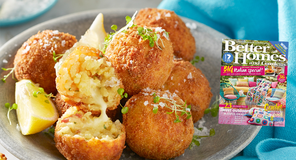 November issue arancini with mozzarella diy gardening Better homes and gardens website australia