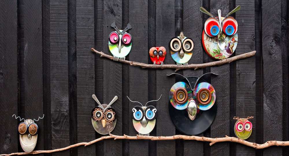 How To Make Tin Owls For The Garden Better Homes And Gardens
