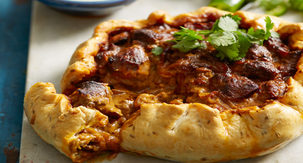 Indian Lamb Curry Pie With Green Chilli Sauce Better