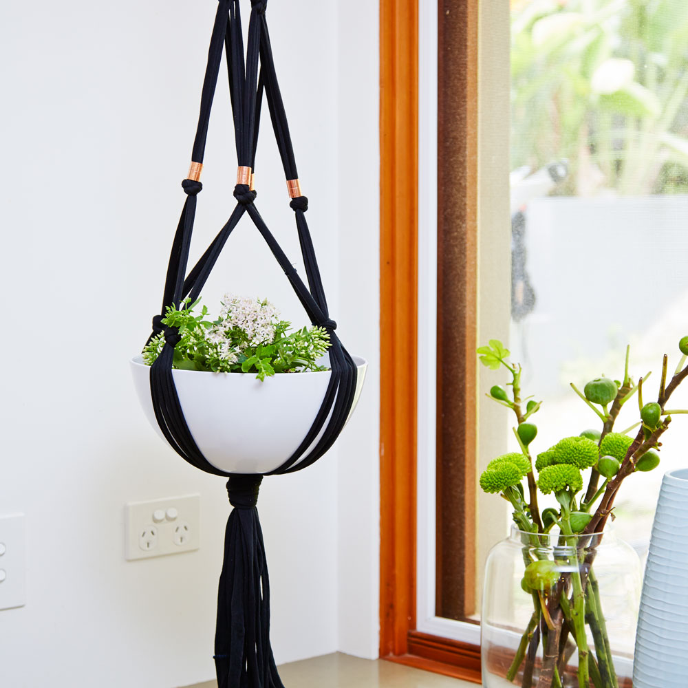 How To Make A Macrame Plant Hanger Better Homes And Gardens