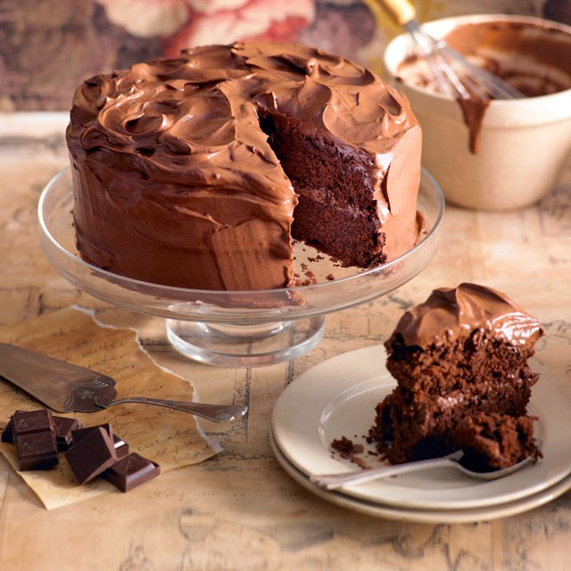 Chocolate Buttercream Cake Recipe Better Homes And Gardens