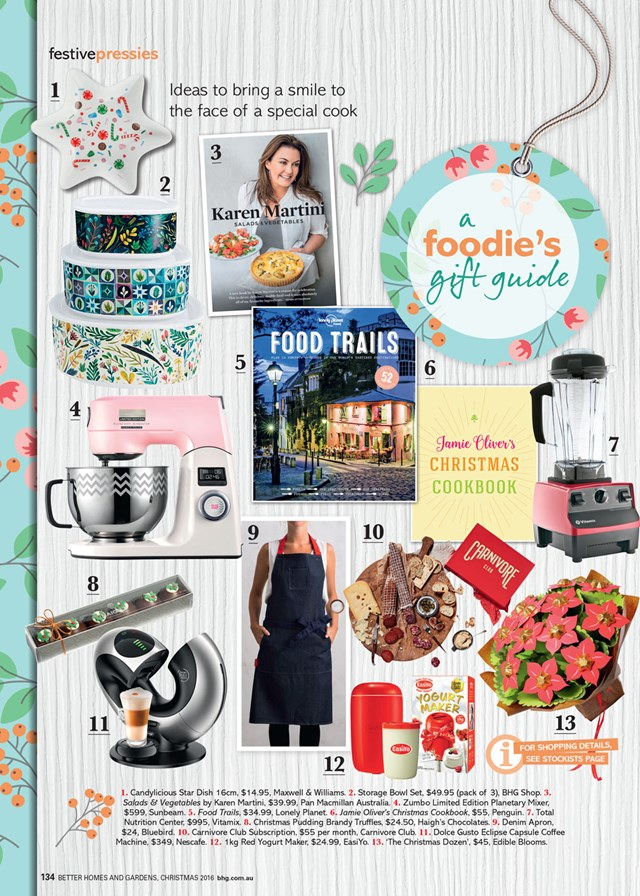 A foodies gift guide