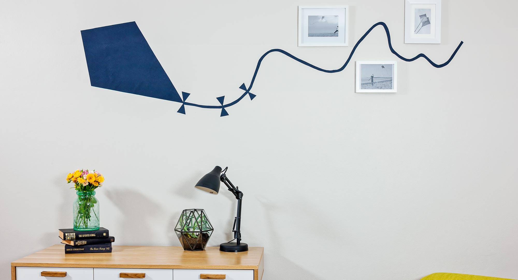 How To Make A Kite Wall Decal Diy Gardening Craft