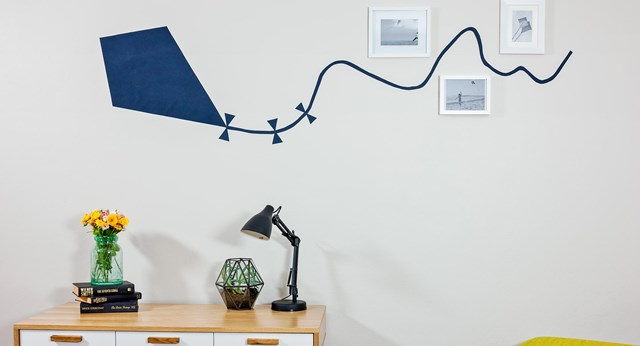 How to make a kite wall decal