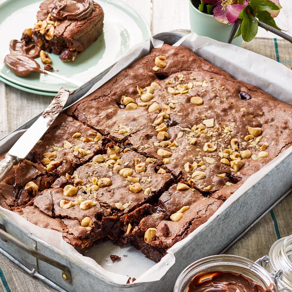 Double Hazelnut Brownie Diy Gardening Craft Recipes