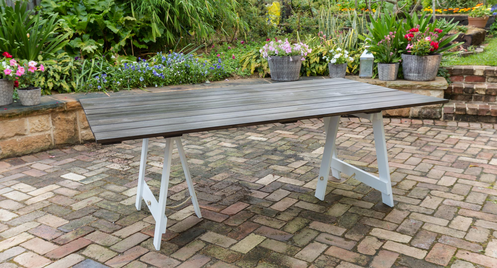Make Your Own Trestle Table Better Homes And Gardens